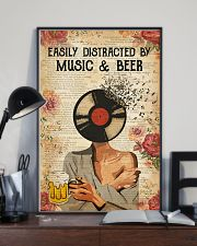 EASILY DISTRACTED BY MUSIC AND BEER 11x17 Poster lifestyle-poster-2