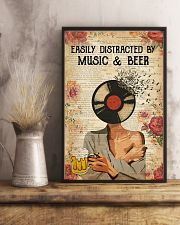 EASILY DISTRACTED BY MUSIC AND BEER 11x17 Poster lifestyle-poster-3
