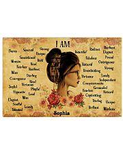 READING GIRL - I AM  - CUSTOM NAME 24x16 Poster front