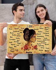 READING GIRL - I AM  - CUSTOM NAME 24x16 Poster poster-landscape-24x16-lifestyle-21