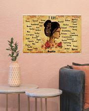 READING GIRL - I AM  - CUSTOM NAME 24x16 Poster poster-landscape-24x16-lifestyle-22
