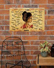 READING GIRL - I AM  - CUSTOM NAME 24x16 Poster poster-landscape-24x16-lifestyle-24