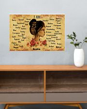 READING GIRL - I AM  - CUSTOM NAME 24x16 Poster poster-landscape-24x16-lifestyle-25