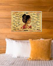READING GIRL - I AM  - CUSTOM NAME 24x16 Poster poster-landscape-24x16-lifestyle-27