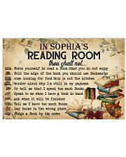 READING ROOM  - CUSTOM NAME 24x16 Poster front