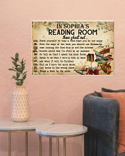 READING ROOM  - CUSTOM NAME 24x16 Poster poster-landscape-24x16-lifestyle-22