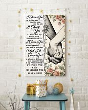 TATTOOED COUPLE  - CUSTOM NAME 11x17 Poster lifestyle-holiday-poster-3
