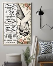 TATTOOED COUPLE  - CUSTOM NAME 11x17 Poster lifestyle-poster-1