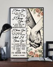 TATTOOED COUPLE  - CUSTOM NAME 11x17 Poster lifestyle-poster-2