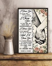TATTOOED COUPLE  - CUSTOM NAME 11x17 Poster lifestyle-poster-3