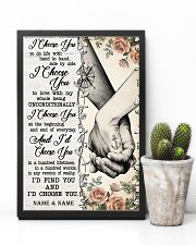 TATTOOED COUPLE  - CUSTOM NAME 11x17 Poster lifestyle-poster-8