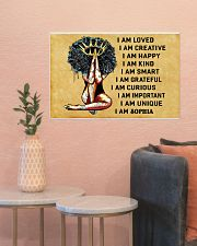 AFRO GIRL - I AM  - CUSTOM NAME 24x16 Poster poster-landscape-24x16-lifestyle-22