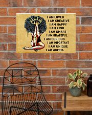 AFRO GIRL - I AM  - CUSTOM NAME 24x16 Poster poster-landscape-24x16-lifestyle-24