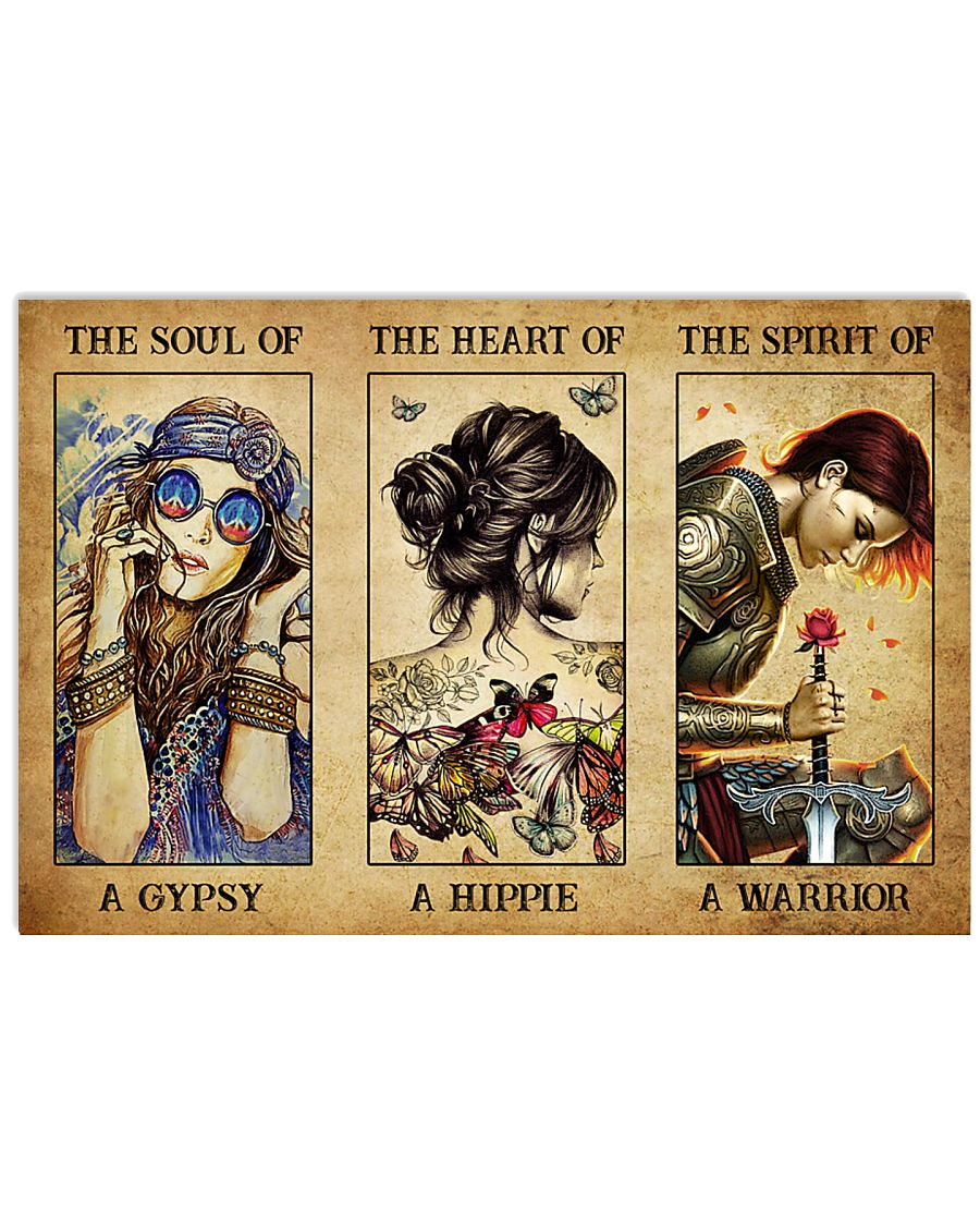 Hippie Warrior girls The soul of a gypsy the heart of a hippie the spirit of a warrior poster