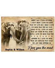 ELEPHANT - I LOVE YOU THE MOST - CUSTOM NAME 24x16 Poster front