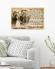 ELEPHANT - I LOVE YOU THE MOST - CUSTOM NAME 24x16 Poster poster-landscape-24x16-lifestyle-01