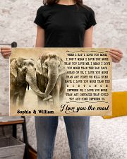 ELEPHANT - I LOVE YOU THE MOST - CUSTOM NAME 24x16 Poster poster-landscape-24x16-lifestyle-20