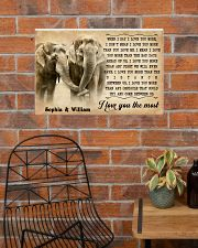 ELEPHANT - I LOVE YOU THE MOST - CUSTOM NAME 24x16 Poster poster-landscape-24x16-lifestyle-24
