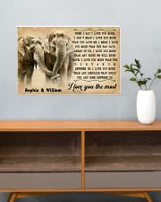 ELEPHANT - I LOVE YOU THE MOST - CUSTOM NAME 24x16 Poster poster-landscape-24x16-lifestyle-25