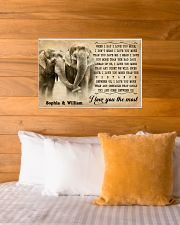 ELEPHANT - I LOVE YOU THE MOST - CUSTOM NAME 24x16 Poster poster-landscape-24x16-lifestyle-27