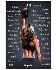 FITNESS - I AM - CUSTOM NAME 11x17 Poster front