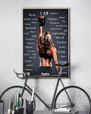 FITNESS - I AM - CUSTOM NAME 11x17 Poster lifestyle-poster-7