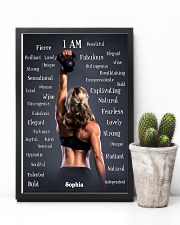 FITNESS - I AM - CUSTOM NAME 11x17 Poster lifestyle-poster-8