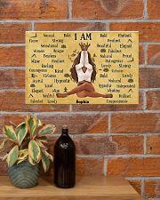YOGA I AM - CUSTOM NAME 17x11 Poster poster-landscape-17x11-lifestyle-23