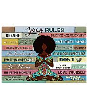 YOGA RULE - AFRO GIRL 17x11 Poster front