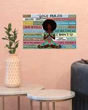 YOGA RULE - AFRO GIRL 17x11 Poster poster-landscape-17x11-lifestyle-21