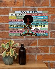 YOGA RULE - AFRO GIRL 17x11 Poster poster-landscape-17x11-lifestyle-23