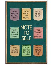 NOTE TO SELFT 11x17 Poster front