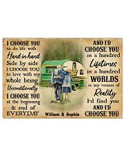 CAMPING - I CHOOSE YOU COUPLE - CUSTOM NAME 24x16 Poster front