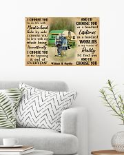 CAMPING - I CHOOSE YOU COUPLE - CUSTOM NAME 24x16 Poster poster-landscape-24x16-lifestyle-01