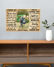 CAMPING - I CHOOSE YOU COUPLE - CUSTOM NAME 24x16 Poster poster-landscape-24x16-lifestyle-25