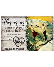 SKIING COUPLE  - CUSTOM NAME 24x16 Poster front