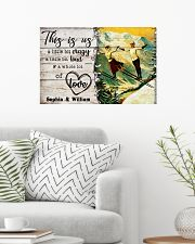 SKIING COUPLE  - CUSTOM NAME 24x16 Poster poster-landscape-24x16-lifestyle-01