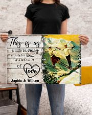 SKIING COUPLE  - CUSTOM NAME 24x16 Poster poster-landscape-24x16-lifestyle-20