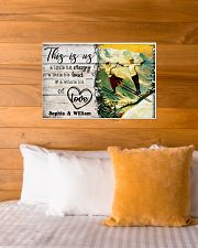 SKIING COUPLE  - CUSTOM NAME 24x16 Poster poster-landscape-24x16-lifestyle-27