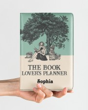 THE BOOK LOVER'S PLANNER - CUSTOM NAME Medium - Leather Notebook aos-medium-leather-notebook-lifestyle-front-01
