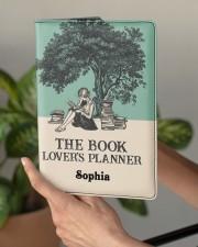 THE BOOK LOVER'S PLANNER - CUSTOM NAME Medium - Leather Notebook aos-medium-leather-notebook-lifestyle-front-03