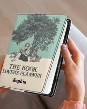 THE BOOK LOVER'S PLANNER - CUSTOM NAME Medium - Leather Notebook aos-medium-leather-notebook-lifestyle-front-05