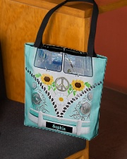 Hippie Bus Leather Pattern Print Custom Name All-over Tote aos-all-over-tote-lifestyle-front-02