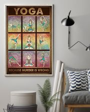 YOGA BECAUSE MURDER IS WRONG 11x17 Poster lifestyle-poster-1