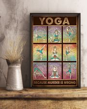 YOGA BECAUSE MURDER IS WRONG 11x17 Poster lifestyle-poster-3