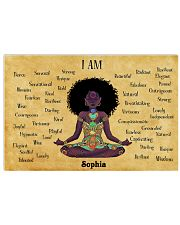 YOGA AFRO - I AM  - CUSTOM NAME 24x16 Poster front
