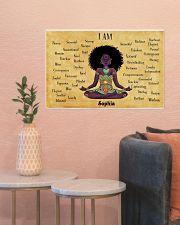 YOGA AFRO - I AM  - CUSTOM NAME 24x16 Poster poster-landscape-24x16-lifestyle-22