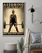 ASSUMING I'M JUST AN OLD LADY WAS YOUR FIRST 11x17 Poster lifestyle-poster-1