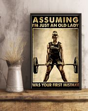 ASSUMING I'M JUST AN OLD LADY WAS YOUR FIRST 11x17 Poster lifestyle-poster-3