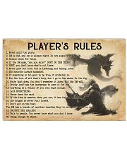 PLAYER'S RULES 17x11 Poster front